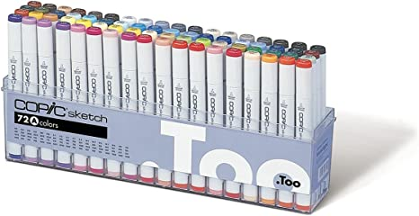 Copic Marker 72-Piece Sketch Set A Stationery Products at amazon