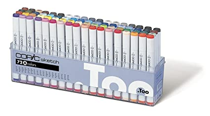 amazon com copic marker 72 piece sketch set a