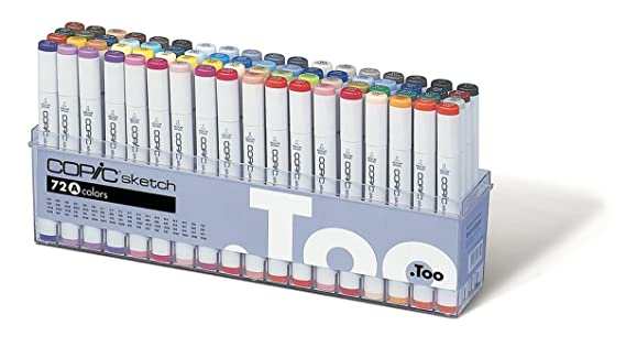 Copic Marker 72-Piece Sketch Set A Drawing Media at amazon