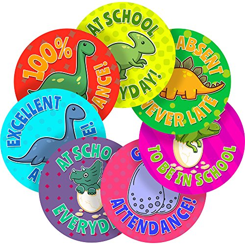 Attendance Stickers - Attendance and Time Keeping Reward Sticker Labels, 35 Stickers @ 1.4