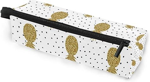 Estuche para gafas con diseño de piñas con purpurina dorada y lunares, caja suave para mujeres y niñas, con cremallera, para gafas de sol, bolsa de almacenamiento: Amazon.es: Oficina y papelería