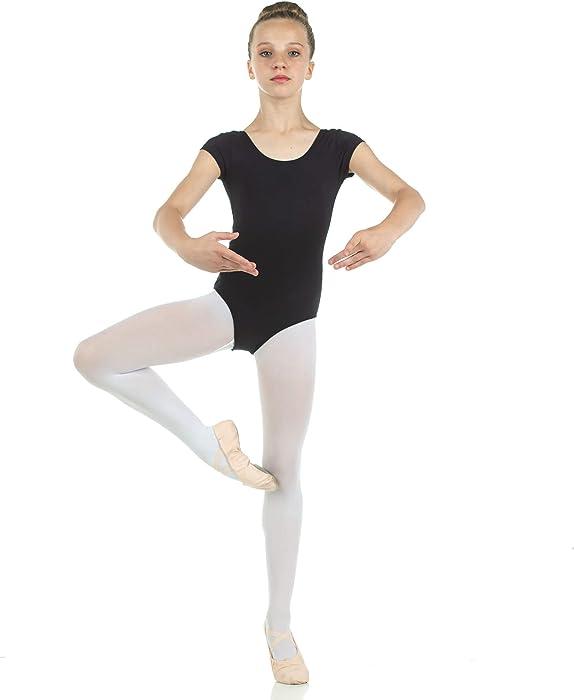 fd0f5f5b300a Amazon.com   Danzcue Child Nylon Short Sleeve Ballet Cut Leotard ...