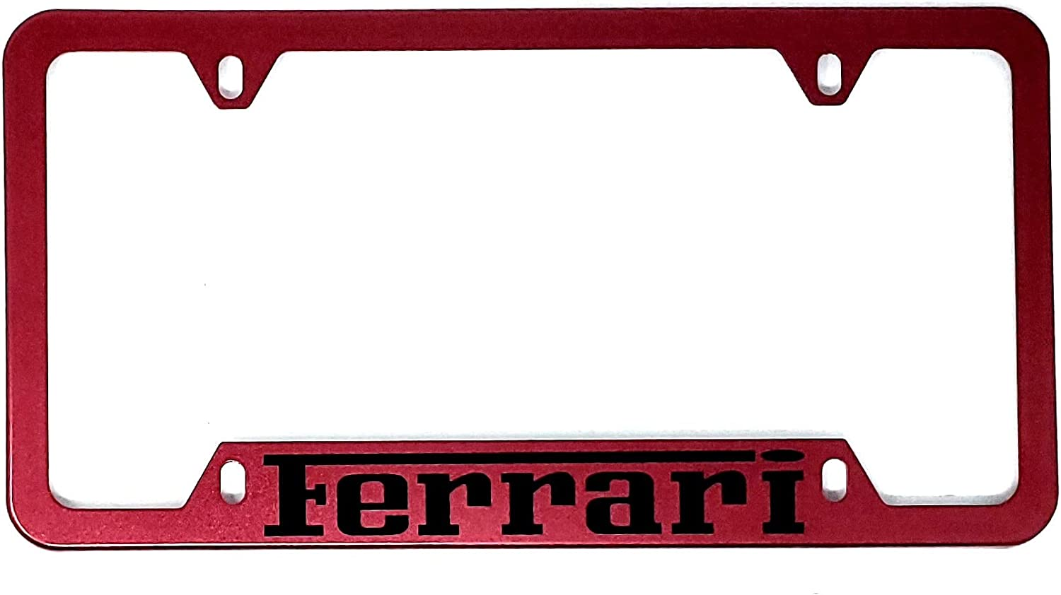 FOR FERRARI License Plate Cover Holder Frame Badge Stickers Decals with Strong 3M Includes instructions MEASURE Before Purchase Fitment Top Quality fit For FXX 360 458 488 GTO GTB LaFerrari etc AMDCO RED pack of 1