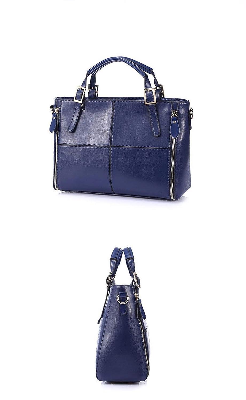 WWVAVA Mode Patchwork Designer Rindspaltleder Taschen Frauen Handtasche Marke hochwertige Damen UmhängetaschenTasche Top-Griff Taschen von Luggage & Bags Blau