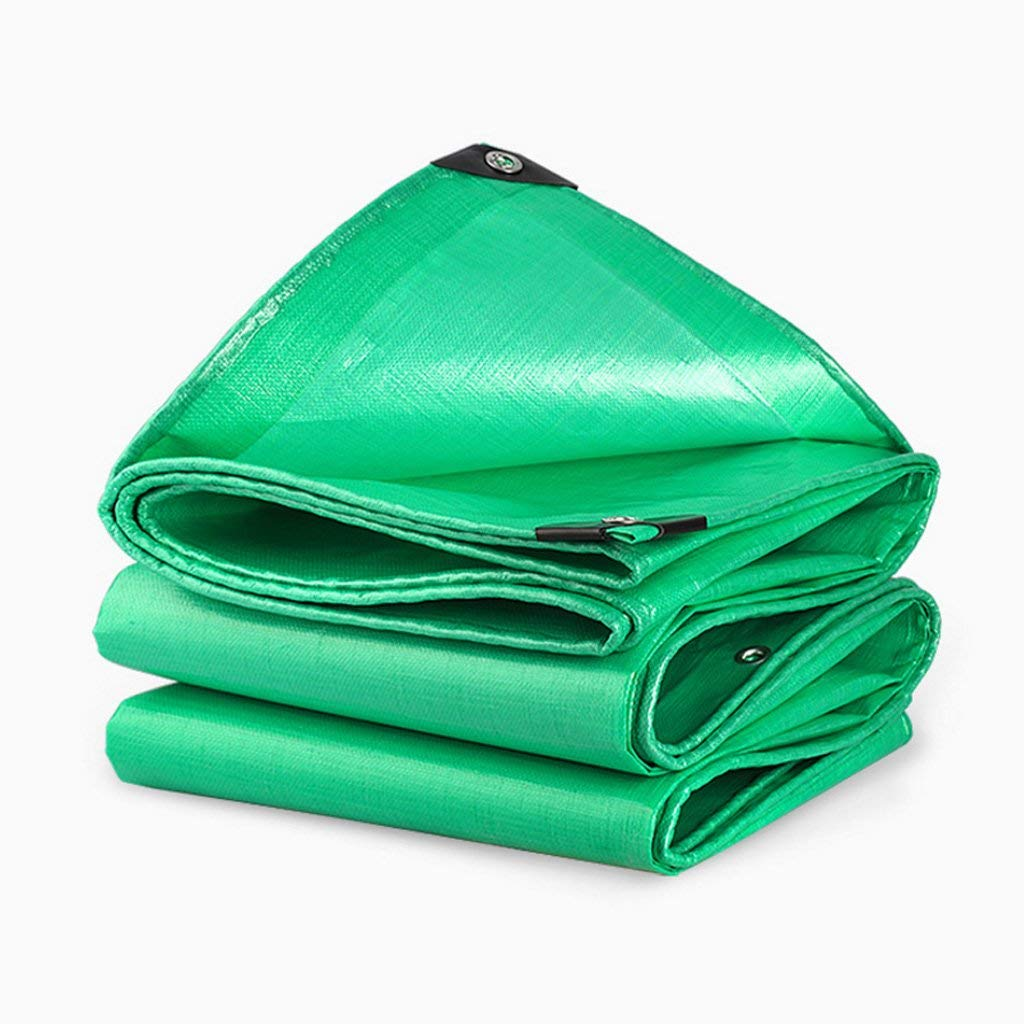 Yetta Außenzelt Plane Regendichte Sonnencreme LKW Autoplan im Freien Sonnenschutz staubdicht Winddicht, grün (Farbe   A, Größe   5  8)