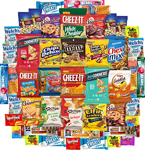 Snacks For All Occasions: Chips, Cookies, Candies and a Lot More Variety Package (50 Count) by Snack Chest