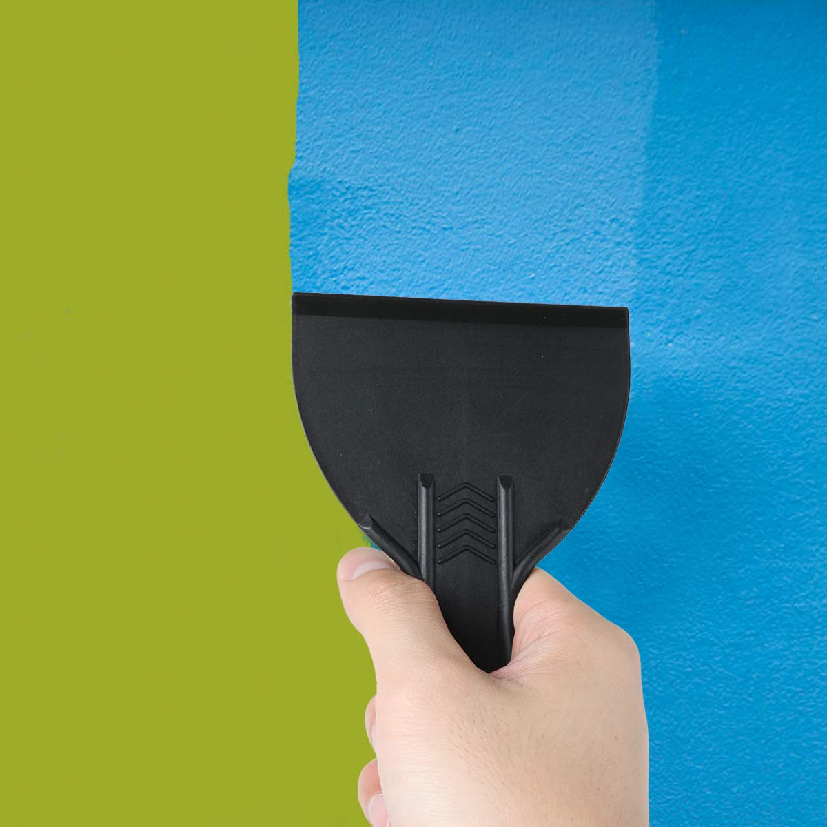 Set di spatole per stucco in plastica flessibile AIEVE muri per decalcomanie carta da parati stucco auto patch e pittura spackling nero, 5 pezzi