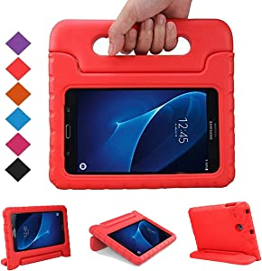 BMOUO Kids Case for Samsung Galaxy Tab E Lite 7.0 inch - Shockproof Case Light Weight Kids Case Super Protection Cover Handle Stand Case for Samsung Galaxy Tab E Lite 7-Inch Tablet - Red