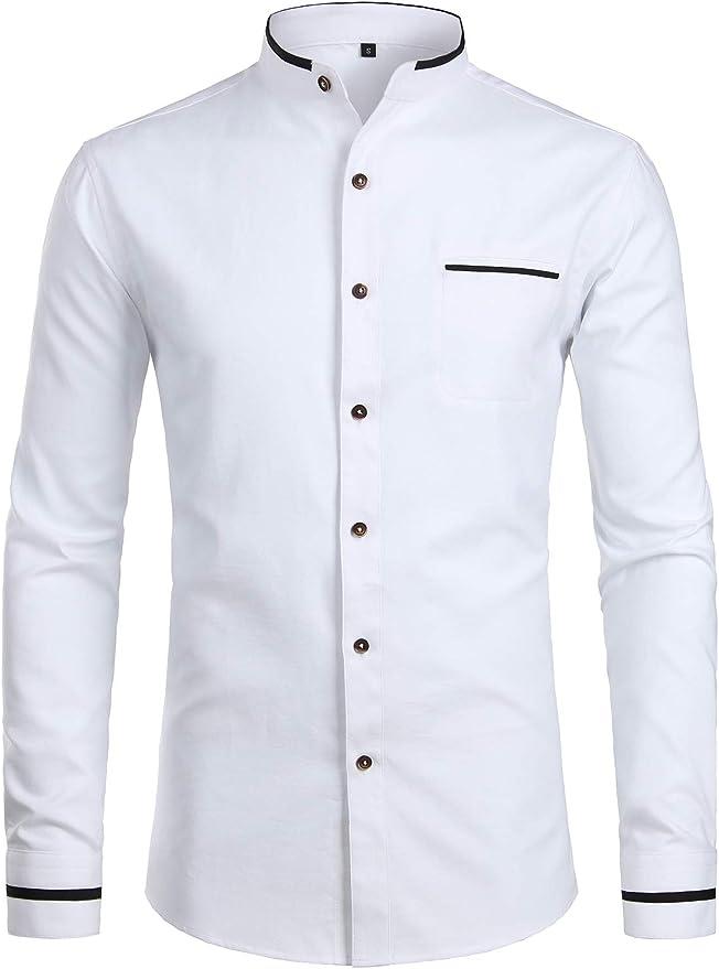 Victorian Mandarin Collar Shirt
