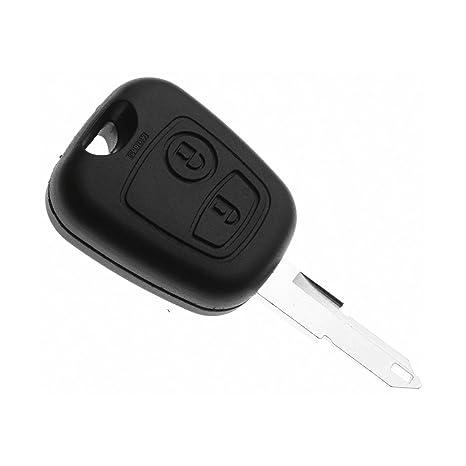 Jongo - Carcasa para Llave de Peugeot 206, 206 +, 206 CC y ...