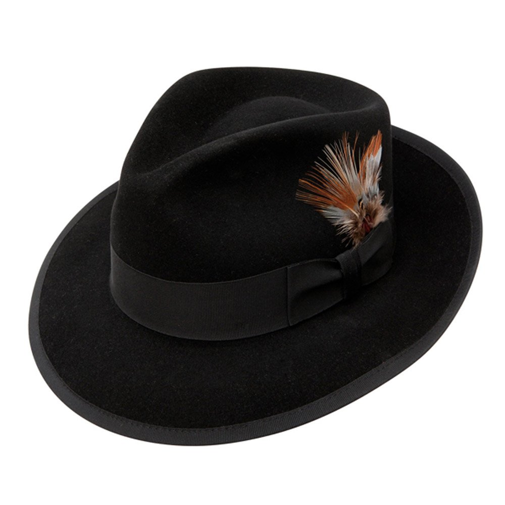 22dcbb0febfdd2 Stetson Whippet Fur Felt Fedora Hat at Amazon Men's Clothing store: