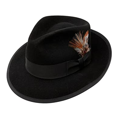 fd3f495cd294a Stetson Whippet Fur Felt Fedora Hat at Amazon Men s Clothing store