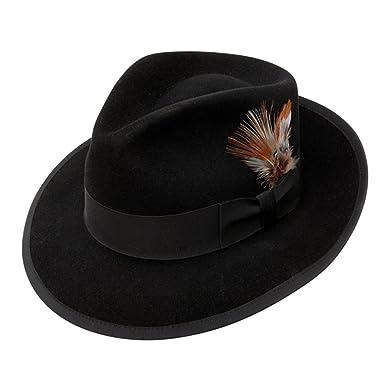c2d0cb595fcd9f Stetson Whippet Fur Felt Fedora Hat at Amazon Men's Clothing store: