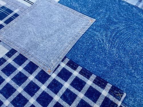 HEAVY Denim Fabric 100/% Cotton Ideal For Clothing Jeans Crafts Patchwork