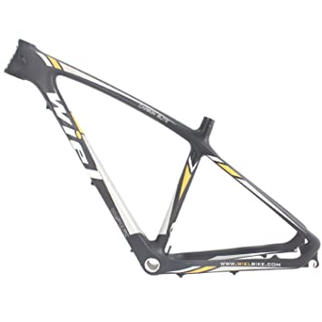 wiel carbon fiber 650b 275er mountain bike frame mtb frameset 3k matt yellow 19quot