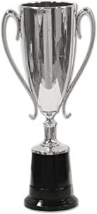 """Beistle Trophy Cup Award, 8.5"""", Silver/Black"""