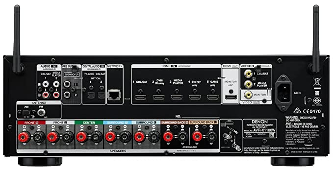 Denon AVR-X1100W 7 Channel Integrated Network Receiver