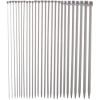 Prettyia 26 Pieces 35cm Stainless Steel Staight Single Pointed Knitting Needles for Sweater Scarves Knitting