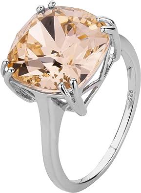 ShahGems Genuine Swarovski Crystal Rings for Women 925 Sterling Silver  Swarovski Rings Jewelry Gift for Women