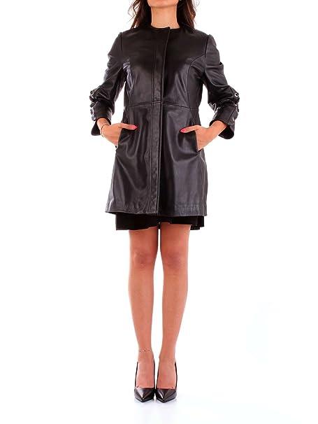 Trussardi 56S00203-2P000070 Chaqueta de Cuero Mujer Negro 46: Amazon.es: Ropa y accesorios
