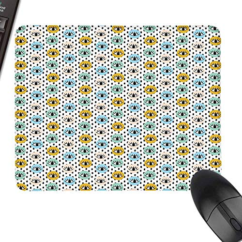 (Gaming Mousepad,Eyelash,with Stitched Edges,23.6