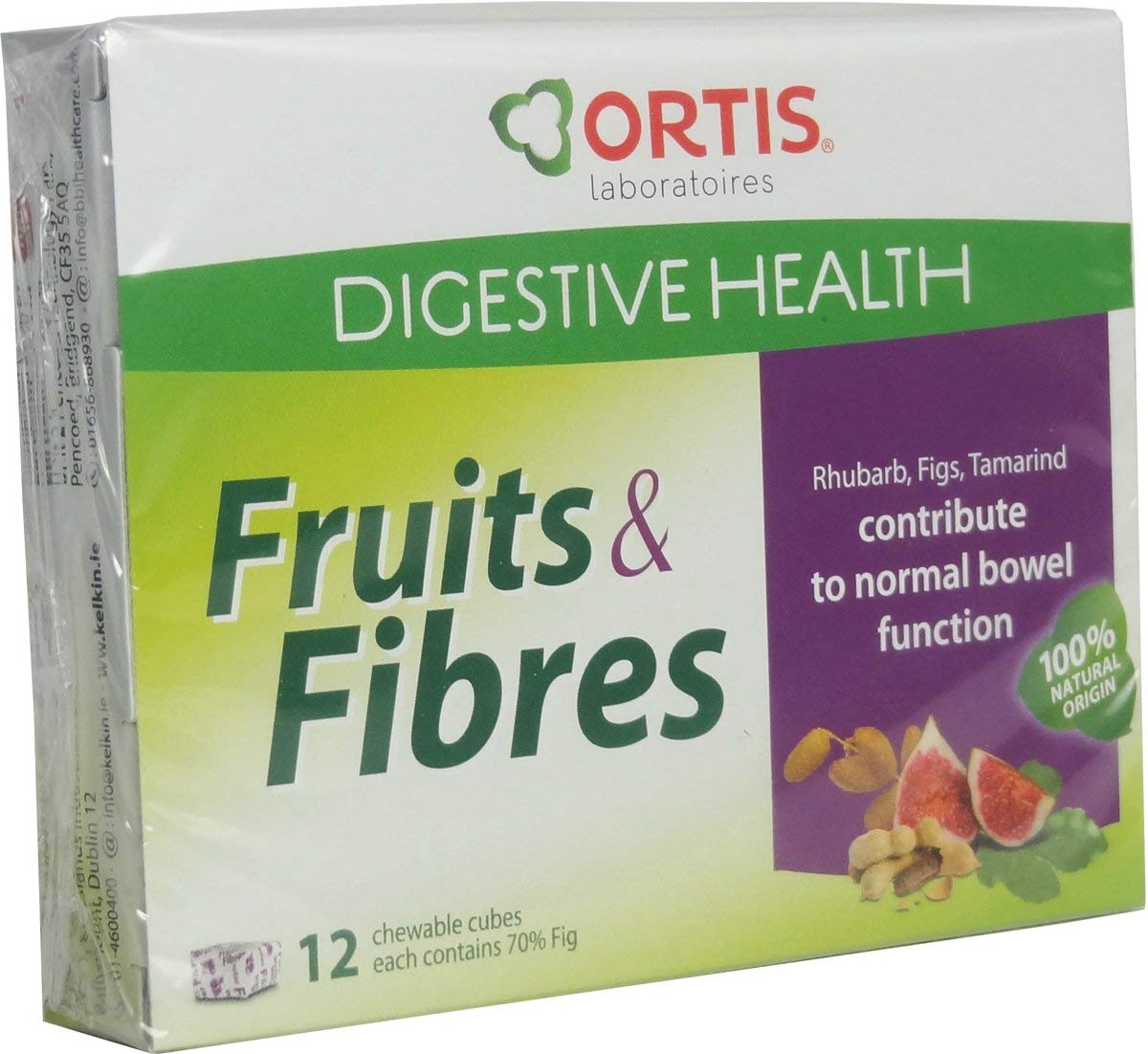 Ortis Easy Fruits & Fibre 12 Cubes by Ortis