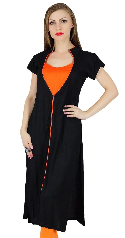 Bimba Women Black Kurta Kurti Trendy Regular Summer Clothing Cap Sleeve  Tunic at Amazon Women s Clothing store  755d7ca40