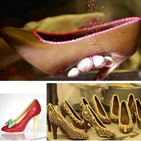 Chocolate making kit, 3D muffa tacco alto scarpe Swan Candy