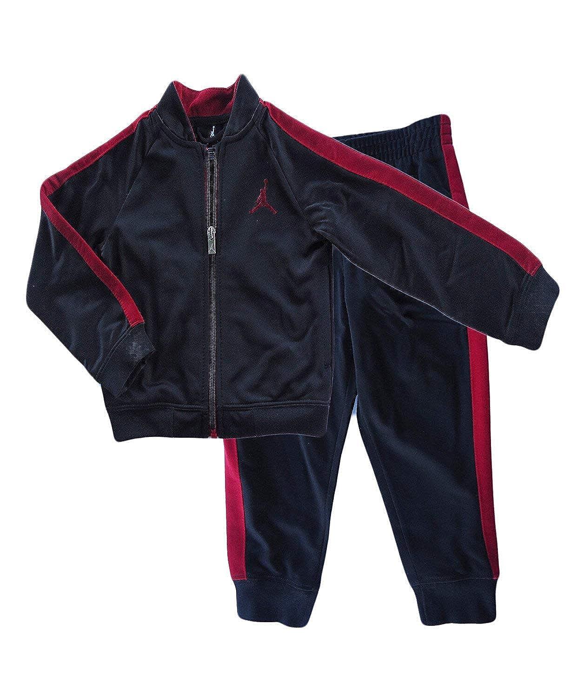 2fe55a970c1 Amazon.com: Nike Air Jordan Toddlers Tricot Tracksuit Jacket & Pants Set  (Black, 2T): Sports & Outdoors