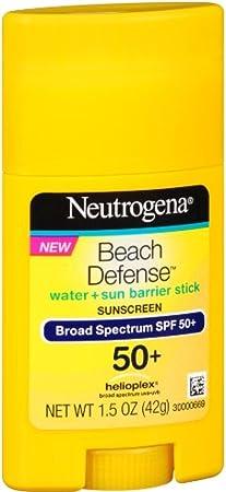 Neutrogena Beach Defense Sunscreen, SPF50 , 1.5 oz Pack of 3