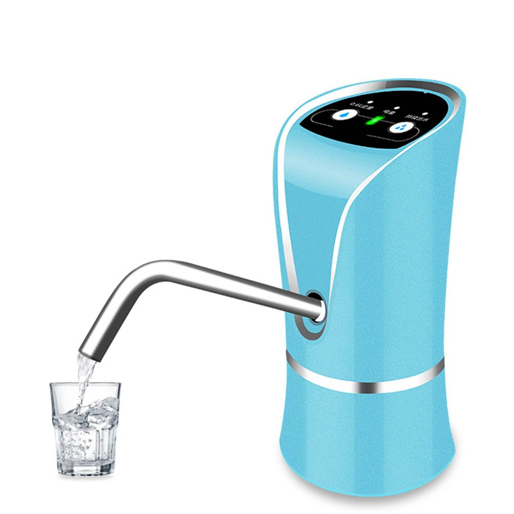 M&Z USB Rechargeable Water Pump Pure Buckets Electric Water Dispenser Water Faucet,Blue,7.515.9Cm