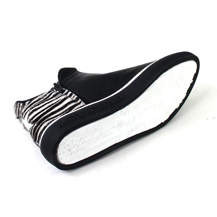 Zeus Star Punta Pitone Black/tallone Zebra White, Größe:38 Mexicana