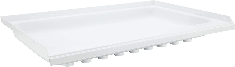 "RecPro RV Shower Pan | 40"" x 24"" x 5"" Center Drain in White | RV Shower Base | Camper Shower Pan"