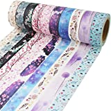 Washi Tape 33 Feet Long Each Roll DIY Japanese Masking Tape Decorative Masking Tape Scrapbooking Tape for Arts Crafts Office Party Supplies and Gift Wrapping