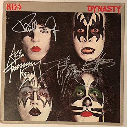 Kiss Signed Dynasty Album Group Autographed Gene Simmons Paul Stanley Ace Peter Criss