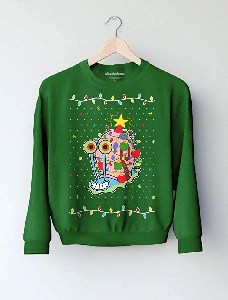Tstars Spongebob Gary The Snail Christmas Toddler//Kids Sweatshirt