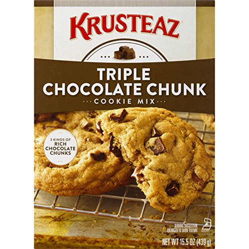 - Krusteaz Bakery Style Cookie Mix, Triple Chocolate Chunk, 15.5-Ounce Boxes (Pack of 12)