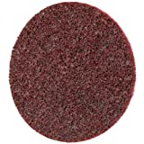 Scotch-Brite Roloc Surface Conditioning Disc TSM, Aluminum Oxide, 3'' Diameter, Medium Grit (Pack of 100)