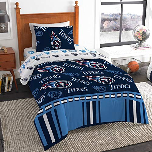 (The Northwest Company NFL Tennessee Titans Twin Bed in a Bag Complete Bedding Set #329539158)