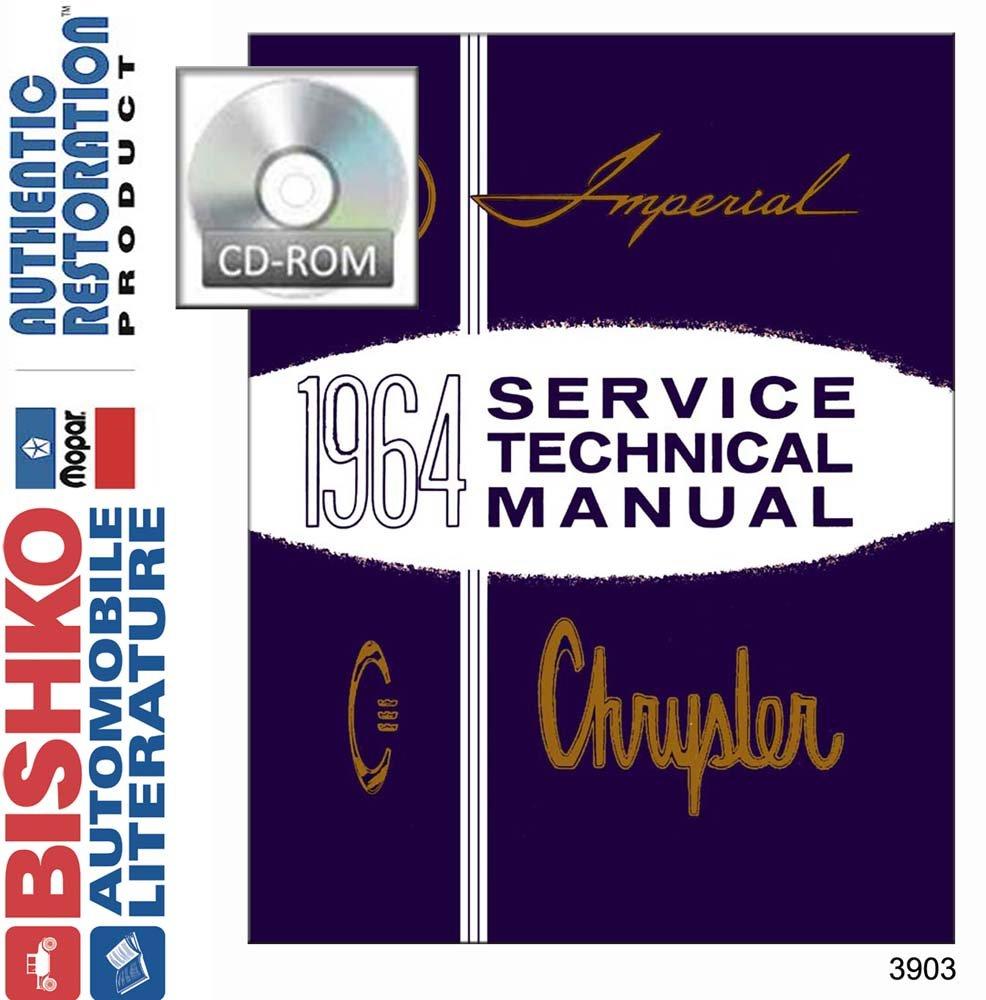 Amazon.com: bishko automotive literature 1964 Chrysler Imperial 300 New  Yorker Shop Service Repair Manual CD Engine: Automotive
