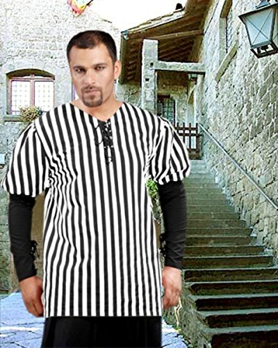 John Nutt Striped Pirate Shirt - Black - White