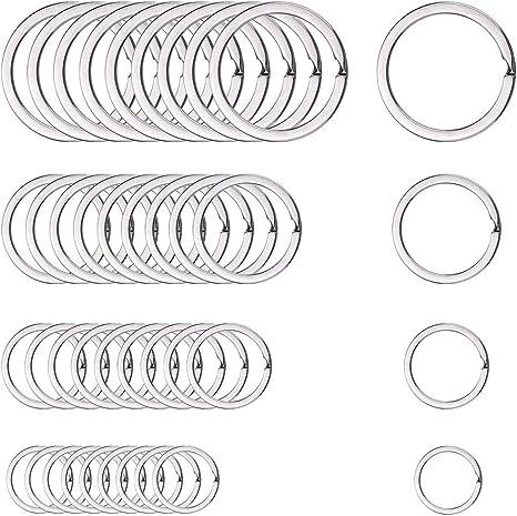 40x Steel Keyring Split Key Rings Nickel Hoop Ring Nickel Plated Steel Loop