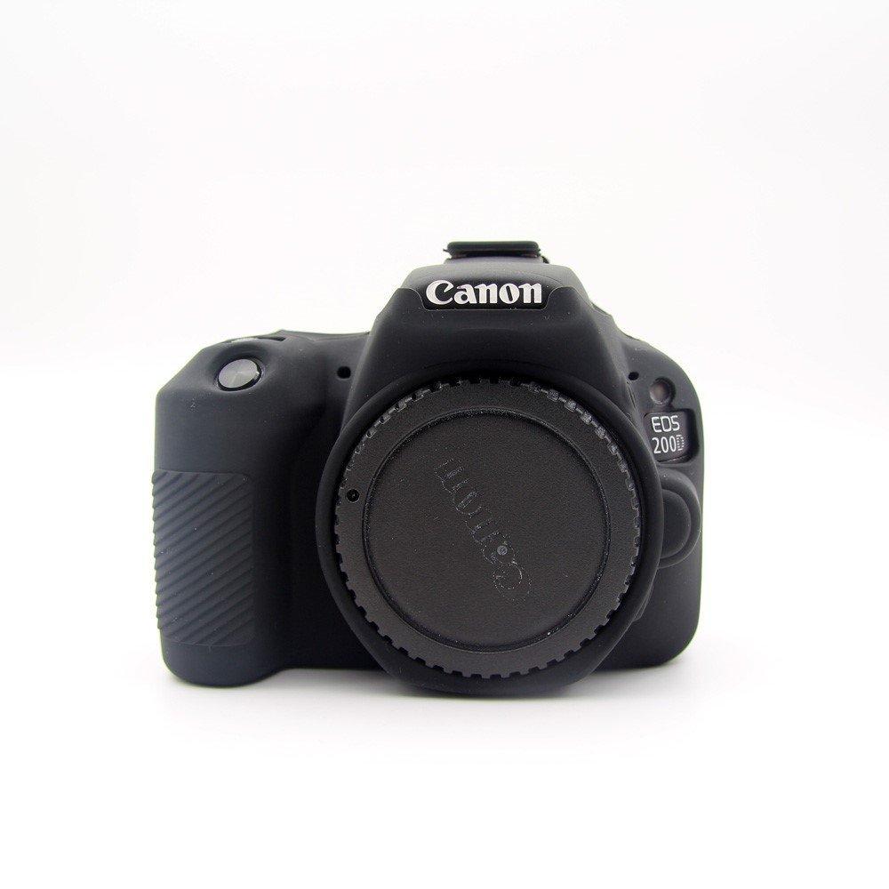 Coque en Silicone camé ra Flexible Noir pour Votre Canon EOS 200D magunivers 830200173A