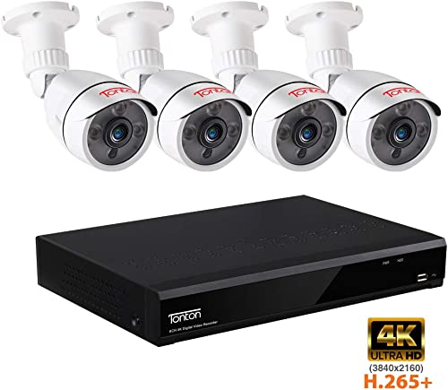 Tonton 8CH 5MP Home Security Camera System,8-Channel Ultra HD 4K 8MP DVR Recorder