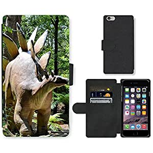 PU LEATHER case coque housse smartphone Flip bag Cover protection // M00134018 Dinosaurios animal prehistórico // Apple iPhone 6 4.7""
