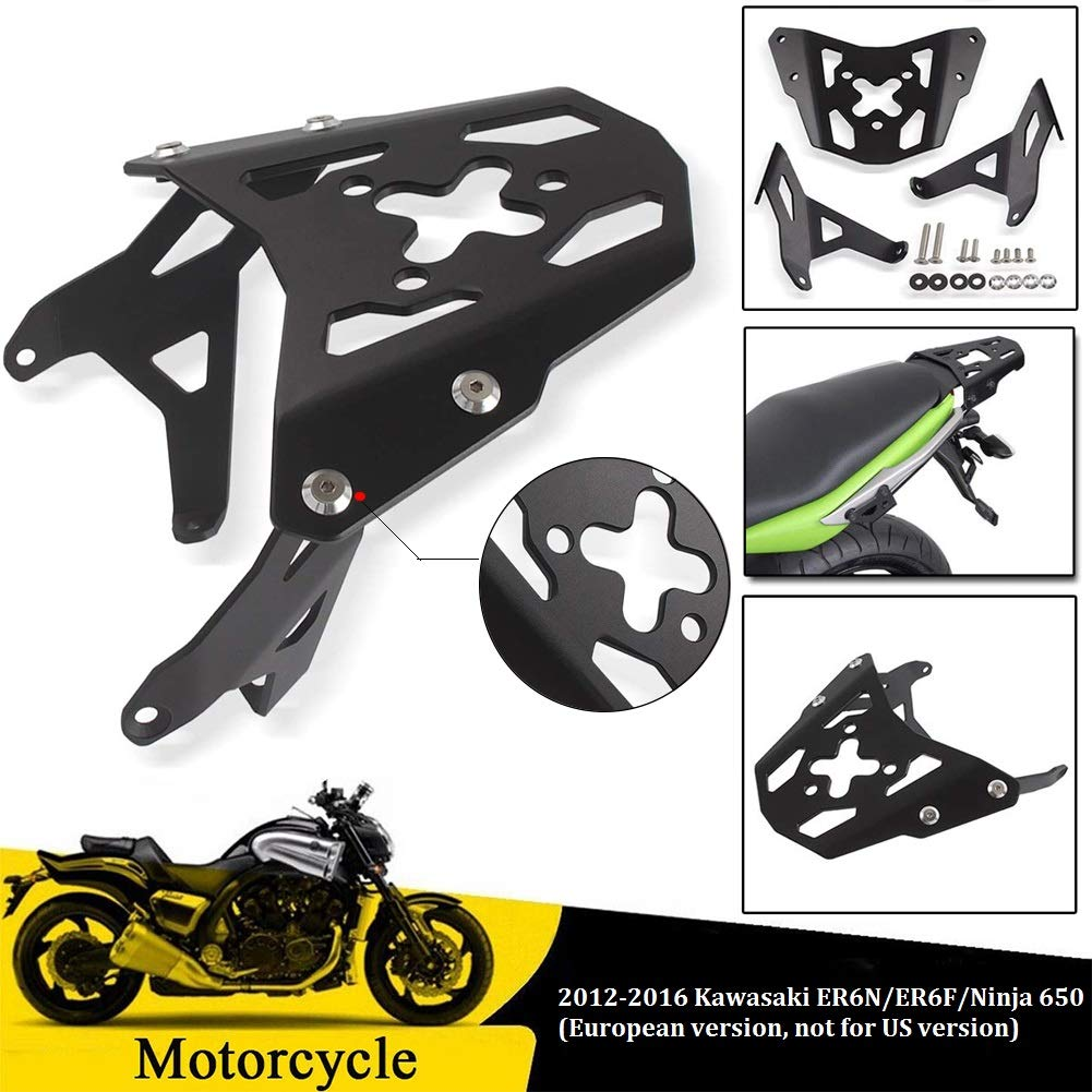 Amazon.com: FATExpress Motorcycle Black Aluminum Luggage Top ...