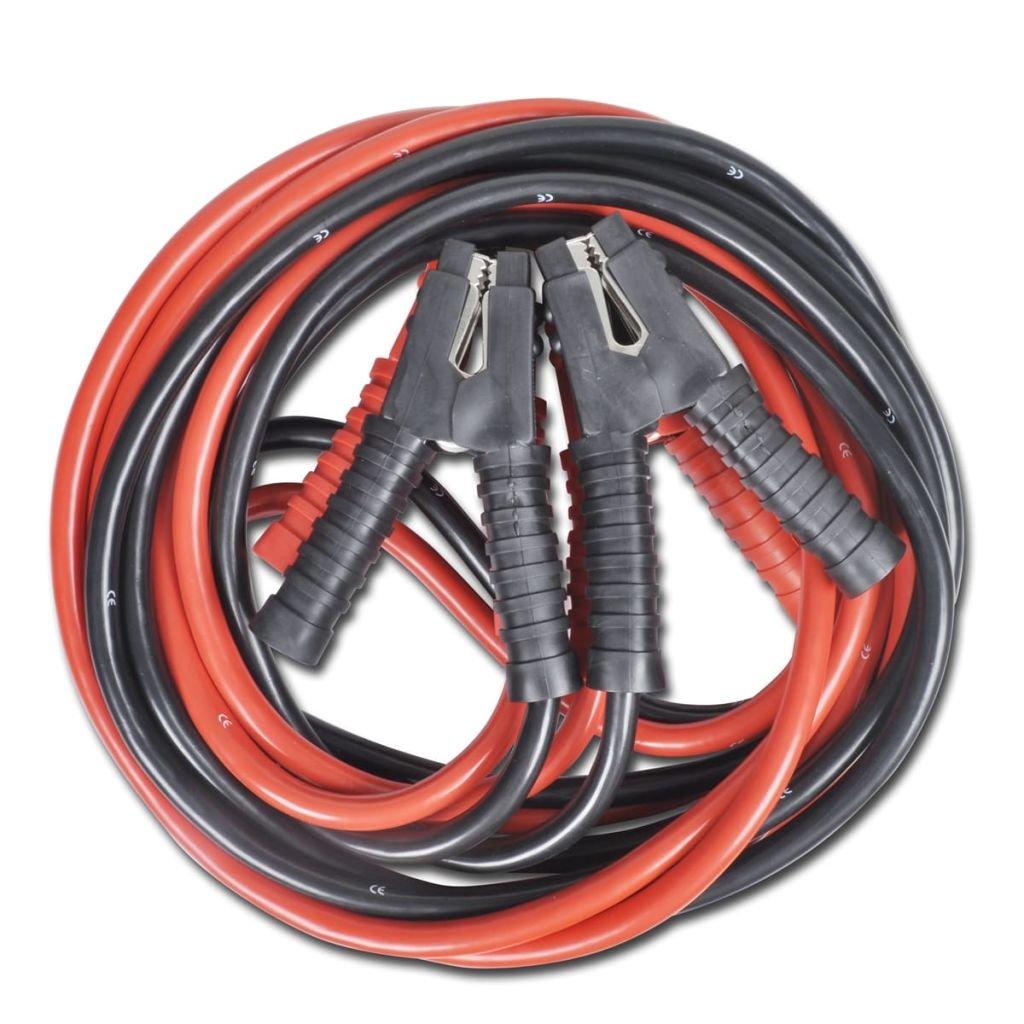 eXODA Cavo da Batteria 100cm Cavo di Alimentazione da 35 mm/² in Rame con estremit/à ad Anello M10 Rosso 12V Cavo da Auto