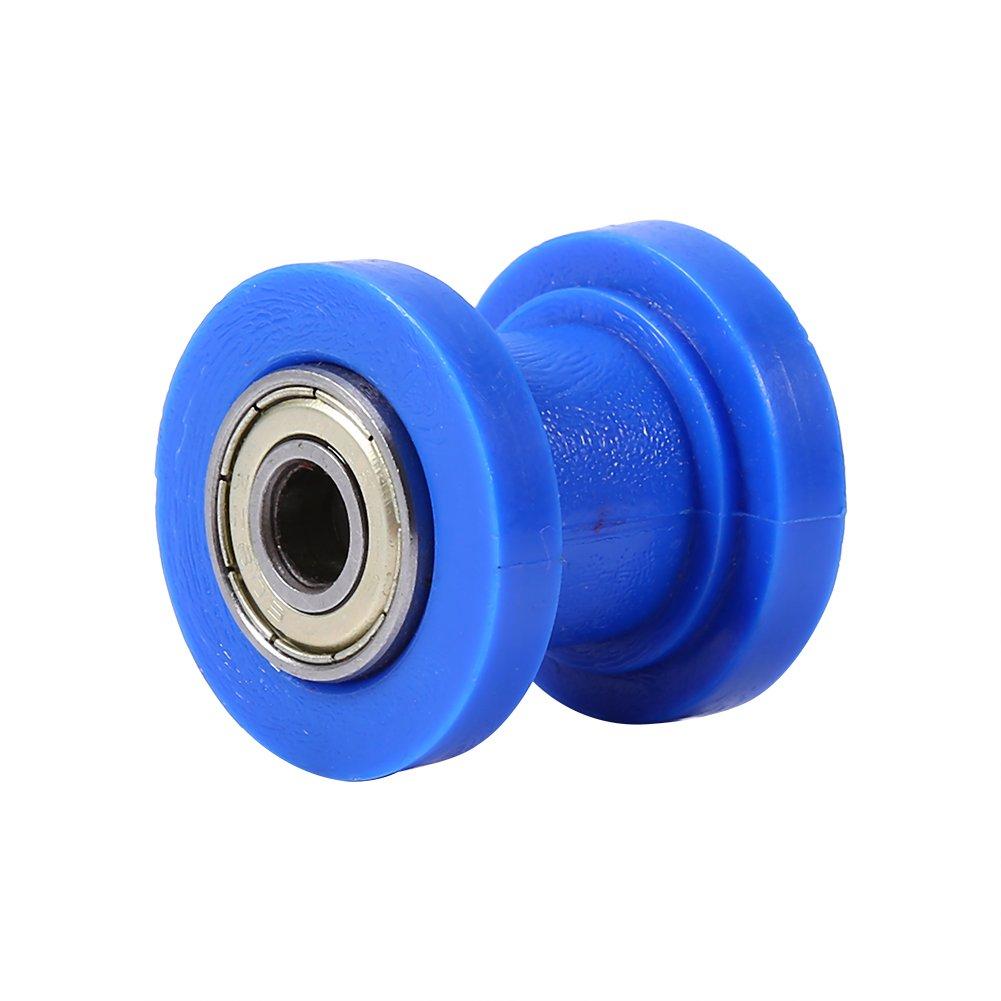 Blue Rouleau de Cha/îne Curseur Tendeur 8mm Guide de Roue de Tendeur de Glisseur de Guide de Poulie pour Moto Pit Dirt Mini V/élo Atv