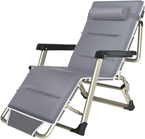 2 pcs Folding Sun Loungers Steel and Fabric Garden Chair Relaxer Patio Day Bed