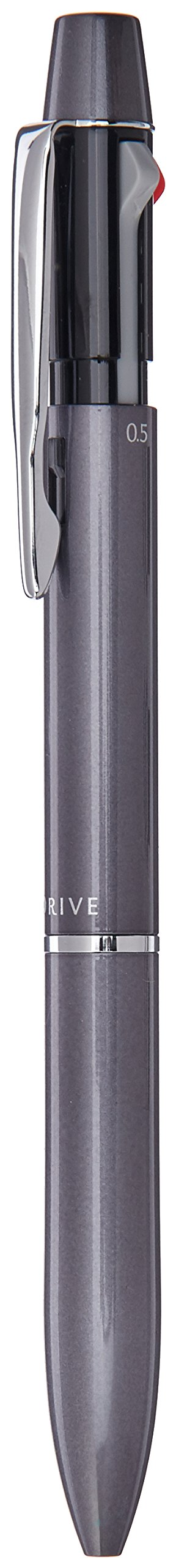 Pilot Mechanical Pencil + Ballpoint Pen, 0.7mm, Fine, Black and Red, 2+1 Acro Drive, Grey (BKHD-250R-GY)